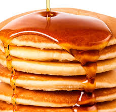 Complementary Pancake Mix and Syrup. We provide the ingredient you create the feast.