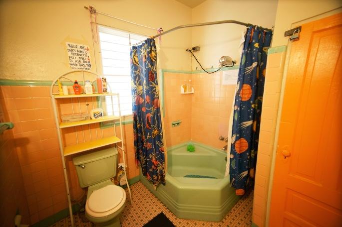 Three bathrooms on premises